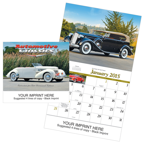 Picture of Automotive Classics Calendar, Promotional Logo Automotive Classics Calendars
