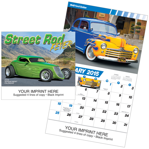 Picture of Street Rod Fever Calendar, Promotional Logo Street Rod Fever Calendar