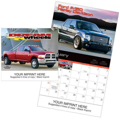 Picture of Dream Wheels Calendar, Promotional Logo Dream Wheels Calendar