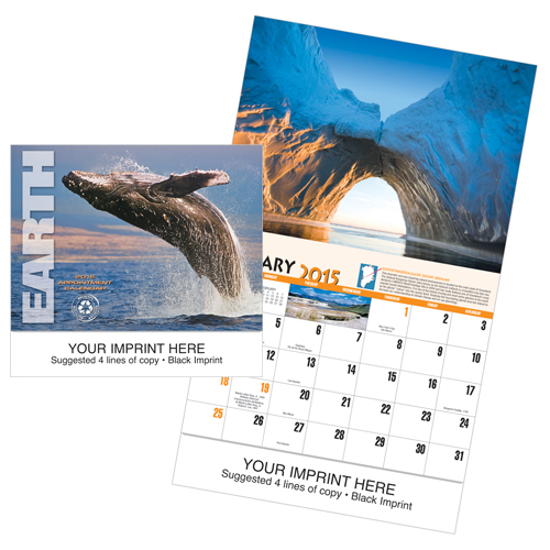 Picture of Earth Calendar, Promotional Printed Calendar