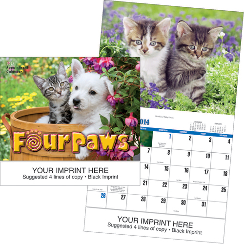 Picture of Four Paws Calendar, Promotional Logo Four Paws Calendar