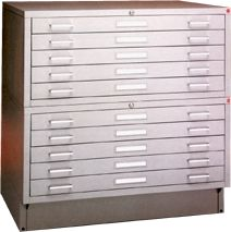 Picture of Archive Designs #STA-40 Steel Flatfiles store large documents easily and safely.