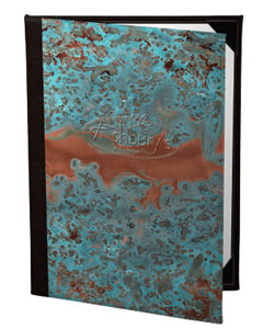 Picture of Menucoverman.com #PATINA-1V-8.5X11 - Casebound Menu Covers