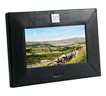 "Picture of Cutter & Buck® Performance Series 7"" Leather DPF, Promotional Logo Multi-Media Digital Photo Frame Copy"