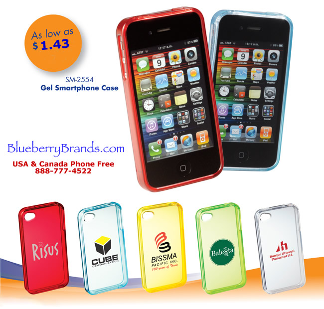 Picture of Gel Smartphone Case from Blueberry Brands for iPhone® 4 and 4S