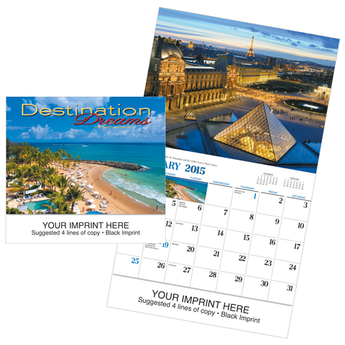 Picture of Destination Dreams Calendar, Promotional Logo Destination Dreams Calendar