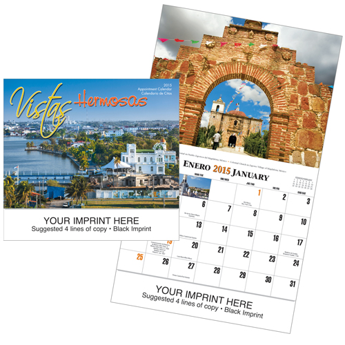 Picture of Vistas Hermosas Wall Calendar, Promotional Logo Vistas Hermosas Calendar