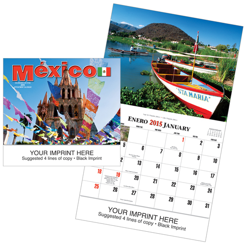 Picture of México Calendar, Promotional Logo Mexico Calendars