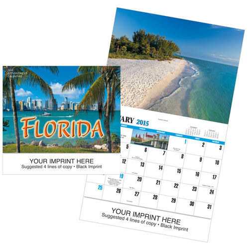 Picture of Florida Calendar, Promotional Logo Florida Calendars