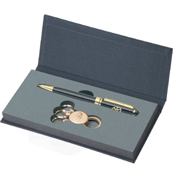 Picture of 2-Tone Ballpoint Pen and Key Tag