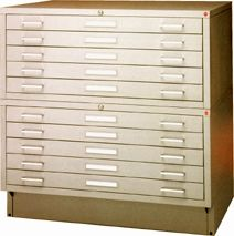 Picture of Archive Designs #MTA-40 Museum Flatfiles store large documents with extra security in mind.