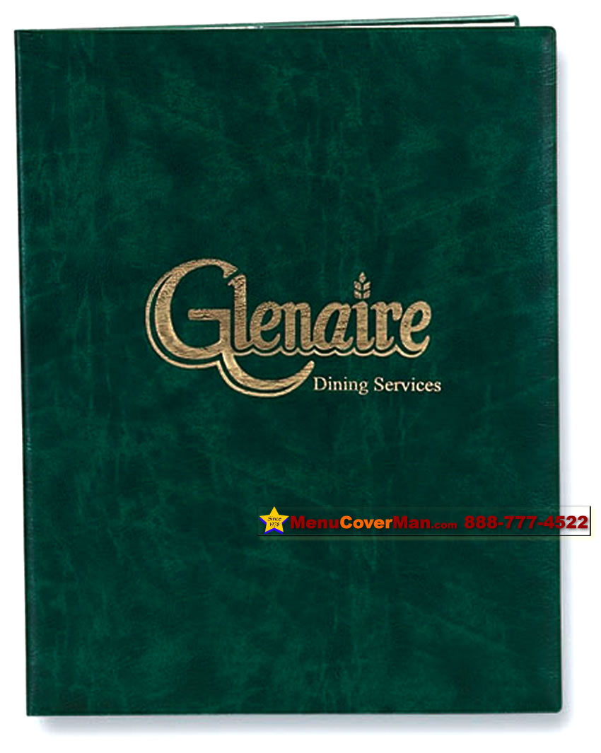 Picture of Menucoverman.com #CV-700-8.5x11 - 2-View Black Vinyl Menu Covers