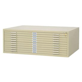 "Picture of 10-Drawer Flat File for 36"" x 48"" Sheets"