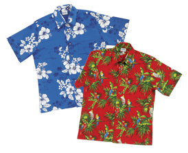 Picture of 100% Pre-shrunk cotton Tropical / Hawaiian Shirts   IN STOCK No Minimum Order