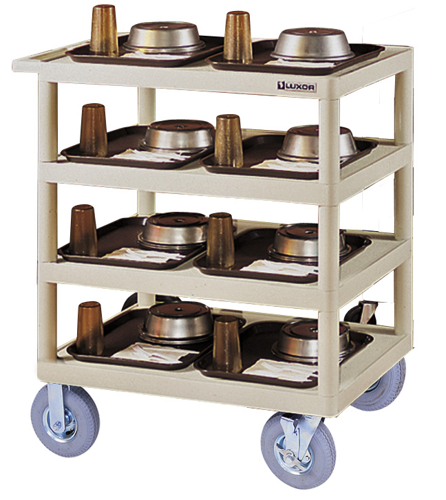 Picture of Luxor BC40-B Black 4-Shelf 37.75 In H Serving Cart  32 In  X 24 In  Shelves