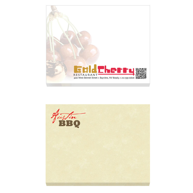 "Picture of Promo BIC® Ecolutions® 4"" x 3"" Adhesive Notepad, 100 sheet"
