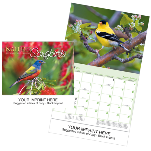 Picture of Song Birds Calendar, Promotional Logo Song Birds Calendar