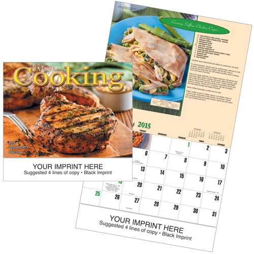 Picture of A Taste For Cooking Calendar, Promotional Logo Recipe Calendar  Copy