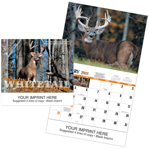 Picture of Trophy Whitetail Deer Calendar, Promotional Logo Calendar  Copy
