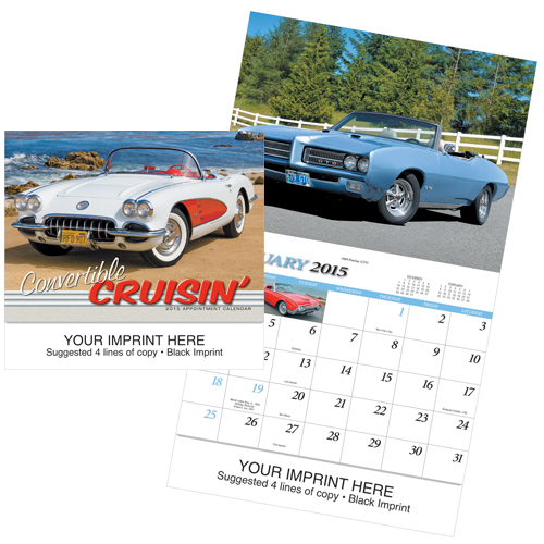 Picture of Convertible Cruisin' Calendar, Promotional Logo Calendar