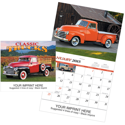 Picture of Classic Trucks Calendar, Promotional Logo Copy Copy