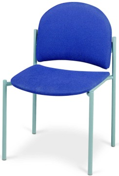Picture of Upholstered Straight Back Logo Chair, Logo Upholstered Straight Back Chair