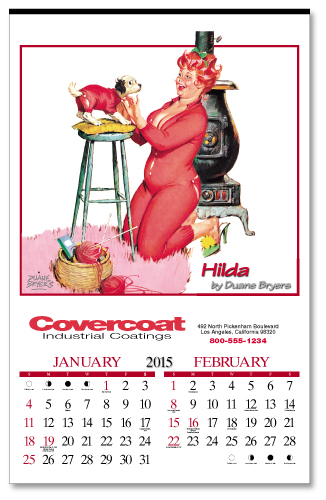 Picture of Hilda Calendar, Promotional Logo Hilda Calendars, Hilda Six Sheet Calendar