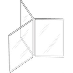 "Picture of 4""w x 6""h Clear Styrene Three-Panel, Six-Sided Table Tent"