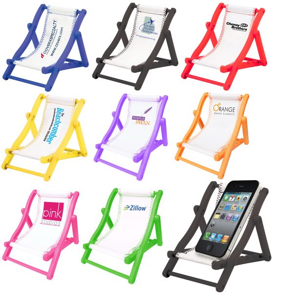 Picture of BEACH CHAIR CELL PHONE HOLDER, Promotional LogoBEACH CHAIR CELL PHONE HOLDER