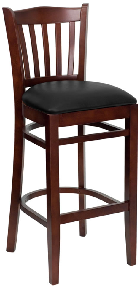 Picture of HERCULES Series Mahogany Wood Restaurant Barstool