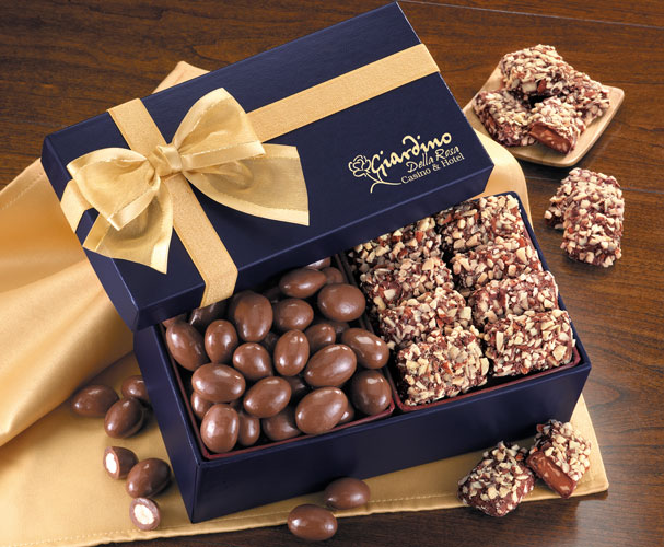 Picture of Gourmet Toffee & Chocolate Almonds, Promotional Logo Gourmet Toffee & Chocolate Almonds
