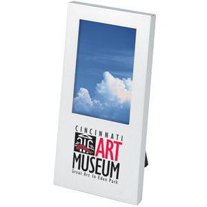 "Picture of 2"" x 3"" Stainless Steel Picture Frame, Promotional Logo 2"" x 3"" Stainless Steel Picture Frame"