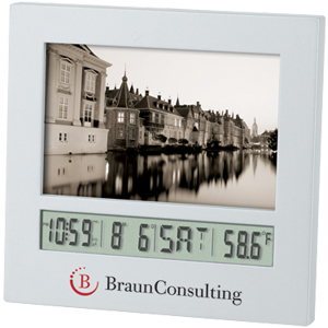 "Picture of 2"" x 3"" Photo Frame Clock, Promotional Logo 2"" x 3"" Photo Frame Clock"