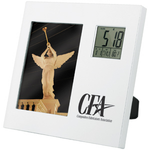 "Picture of 3-1/2"" x 5"" Photo Frame Rotating Clock, Promotional Logo 3-1/2"" x 5"" Photo Frame Rotating Clock"
