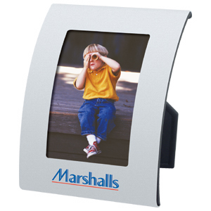 "Picture of 2-1/2"" x 3-1/2"" Aluminum Curved Frame, Promotional Logo Aluminum Curved Frame"