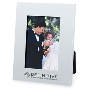 "Picture of 4"" x 6"" Aluminum Picture Frame, Promotional Logo  Aluminum Picture Frame"