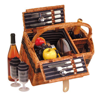 Picture of Lenox Class - 2 Person Handmade Picnic Basket