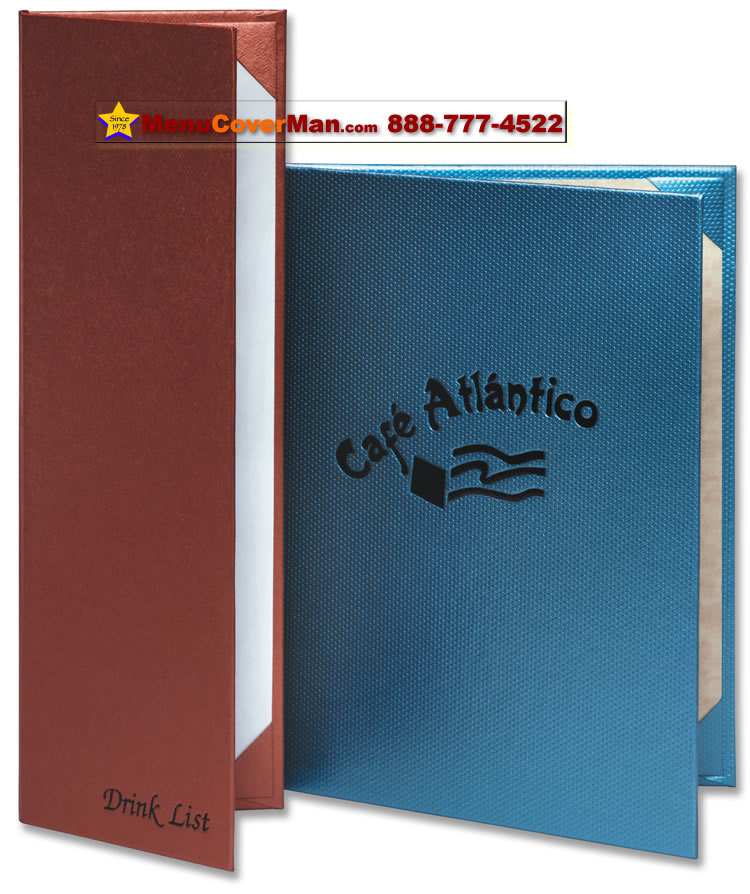 Picture of Menucoverman.com #BIS-2V-4.25X14 - 2-View Casebound Menu Covers
