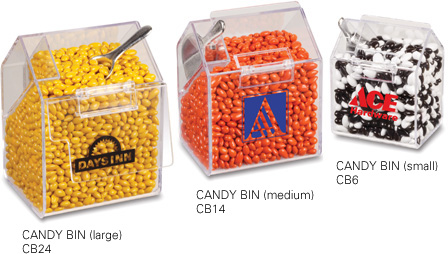 Picture of Small Acrylic Candy Bin, Promotional Logo Small Acrylic Candy Bin