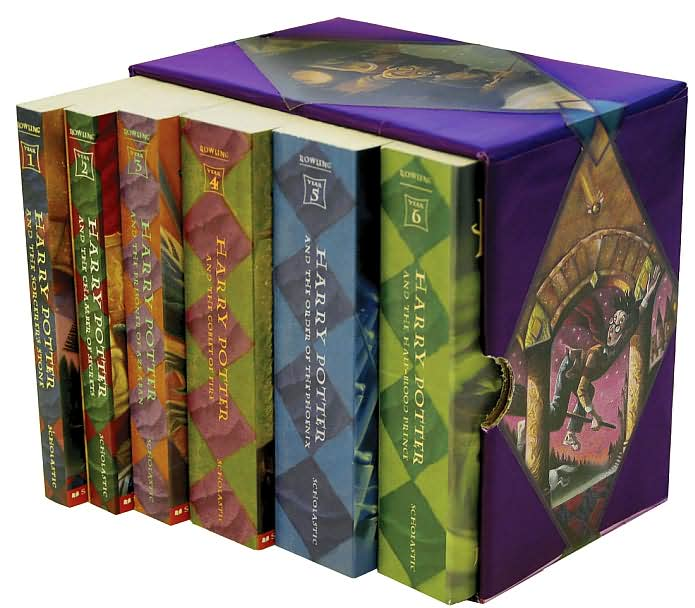 Picture of Children: Harry Potter Paperback Boxed Set (Books 1-6), Promotional Logo Harry Potter Books
