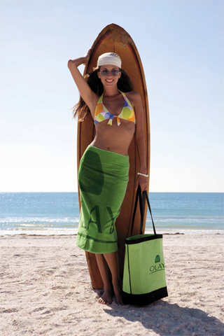 "Picture of Midweight 30"" x 60"" Beach Towel, Promotional Logo Midweight 30"" x 60"" Beach Towel"