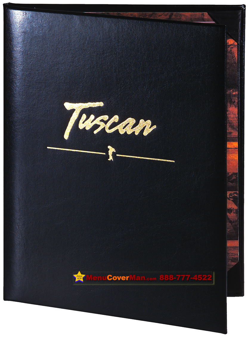 Picture of Menucoverman.com #TUXEDO-LEATHER-2V-8.5X11 - 2 view.